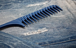 Comb on the jeans Stock Image