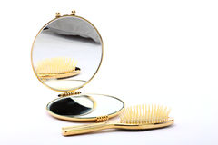 Comb and looking-glass Stock Image