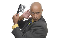 Comb man Royalty Free Stock Photo