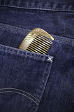 Comb in pocket Stock Image