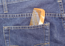 Comb in pocket of jean Stock Photography