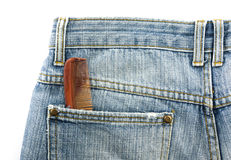 Comb in pockets jeans Stock Images