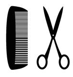 Comb and scissors Royalty Free Stock Photo