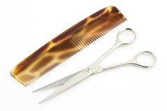 Comb and scissors 3 Royalty Free Stock Photos