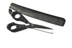 Comb and Scissors Stock Photos