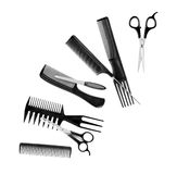 Comb and scissors collection Stock Photography