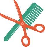 Comb & Scissors Stock Photo