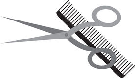 Comb And Shears Stock Photos