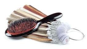 Comb and strands of hair Royalty Free Stock Images