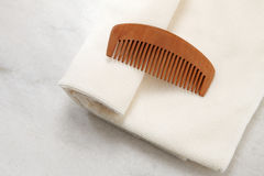 Comb and towel Stock Photos