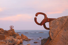 Comb of the Wind (Peine del viento, Chillida). Royalty Free Stock Images