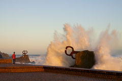 Comb of the Wind (Peine del viento, Chillida). Royalty Free Stock Photos