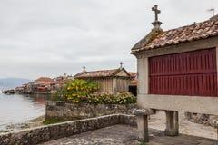 Combarro,波伊奥,蓬特韦德拉,加利西亚西班牙 免版税库存图片