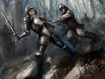 Combat illustration de vecteur