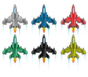 Combat aircraft icon flat cartoon. Combat aircraft icon flat for web Royalty Free Stock Images