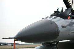 Combat aircraft nose Stock Images