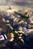 Combat aérien de la deuxième guerre mondiale Photos libres de droits