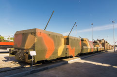 Combat armored train, the exhibit of the military historical Museum, Russia, Ekaterinburg,. Verkhnyaya Pyshma Stock Photo