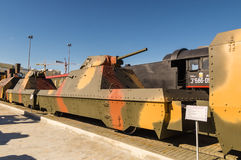 Combat armored train, the exhibit of the military historical Museum, Russia, Ekaterinburg, Royalty Free Stock Photo