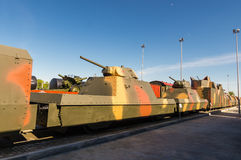 Combat armored train, the exhibit of the military historical Museum, Russia, Ekaterinburg, Stock Photos