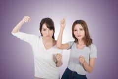 Combat asiatique de femme ensemble Image libre de droits