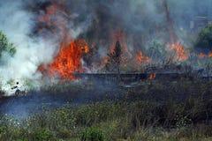 Combat avec l'incendie Photo libre de droits