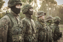 Combat basic training. Picture of soldiers during combat basic training royalty free stock photo