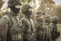 Combat basic training Royalty Free Stock Photo