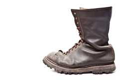 Combat boot. Isolated on white background Royalty Free Stock Photography