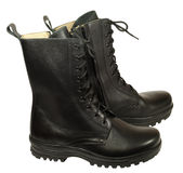 Combat boot - military boots royalty free stock photos