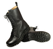 Combat boot - military boots Royalty Free Stock Image