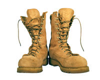 Combat boots Royalty Free Stock Photography