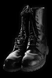 Combat boots. Old american army boots, camera: D50, lens: 50mm, lighting: 2 flashes royalty free stock image