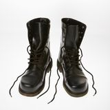 Combat boots. Royalty Free Stock Images
