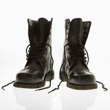Combat boots. stock image