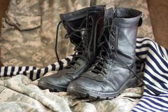 Combat boots stock image