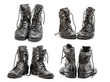 Combat boots group Royalty Free Stock Image