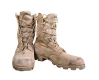 Combat boots Royalty Free Stock Photos