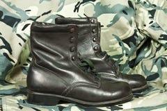 Combat boots Royalty Free Stock Photos