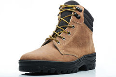 Combat brown boot Royalty Free Stock Photo