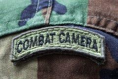 Combat Camera Army Badge Stock Photo