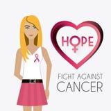 combat contre la campagne de cancer du sein illustration de vecteur image 59801430. Black Bedroom Furniture Sets. Home Design Ideas