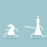 Combat d'échecs Photo stock