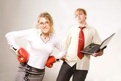 Combat d'affaires Photos stock