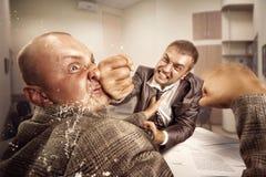 Combat d'affaires Photo libre de droits