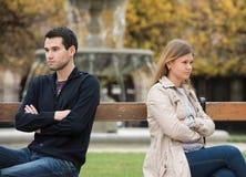 Combat d'amour à Paris Photo libre de droits