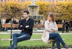 Combat d'amour à Paris Photographie stock libre de droits