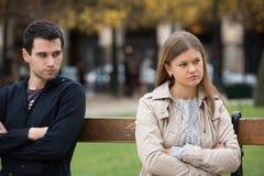 Combat d'amour à Paris Photos libres de droits