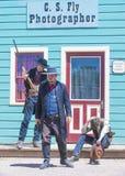 Combat d'armes à feu CORRECT de corral Photo libre de droits