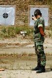 Combat d'entraînement militaire Images stock